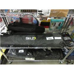 SHELF LOT OF SPORTING EQUIPMENT & BAGS