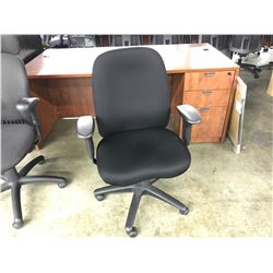 BLACK FULLY ADJUSTABLE MID BACK TASK CHAIR