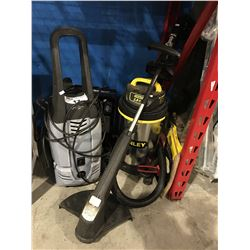 STANLEY SHOP VAC/TORO WEED EATER & ELECTRIC PRESSURE WASHER (NO WAND FOR PRESSURE WASHER)