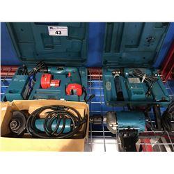2 MAKITA CORDLESS DRILL SETS, MAKITA ELECTRIC DRILL & MAKITA GRINDER