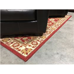 HAND TUFTED 100% WOOL MULTI COLORED AREA RUG 5' X 8'