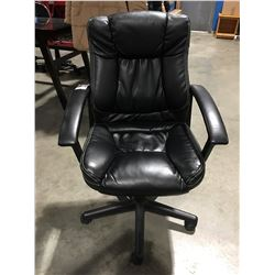 BLACK GAS LIFT OFFICE CHAIR - SOME WEAR PRESENT