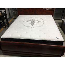 KING SIZE PILLOW TOP MATTRESS & BOX SPRING SET (FLOOR MODEL SOME LIGHT WATER STAINING)