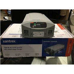 XANTREX 1800W, DC TO AC INVERTER, 40A, MULTI STAGE CHARGER