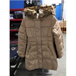 COSTA BLANCA FAUX  FUR LINED COLLAR LADIES LONG WINTER COAT BEIGE SIZE M