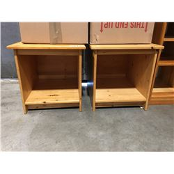 PAIR OF SOLID PINE SIDE TABLES