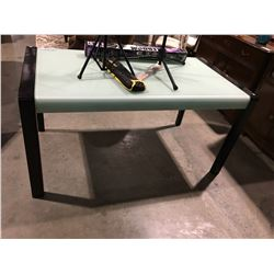 CONTEMPORARY WOOD & GLASS DINETTE TABLE