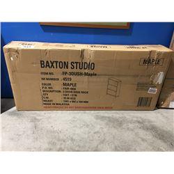 BAXTON STUDIO MAPLE 3 DRAWER SHOE RACK