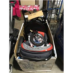 GREACO FAST ACTION JOGGER TRAVEL SYSTEM WITH SNUG RIDE (BROKEN FRONT WHEEL AXLE NEEDS REPAIR)