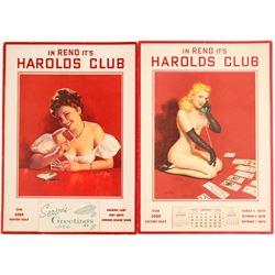 Harold's Club Pinup Poster Calenders, 1954, 1956