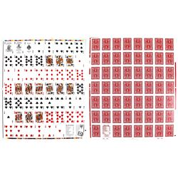 Uncut Sheet of Bicycle Playing Cards