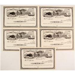 Buffalo Brewing Co. Stock Certificates