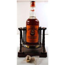 Old Grand Dad Bar Bottle in Cradle