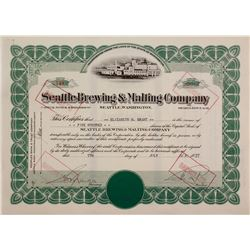 Seattle Brewing & Malting Co.Stock Cert.