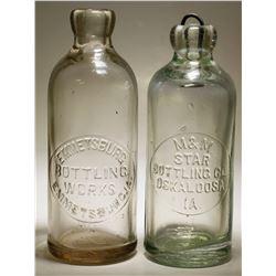 Emmetsburg & M&M / Star Bottling Works ( Lot of 2 ).