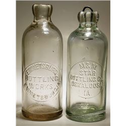 Emmetsburg & M&M / Star Bottling Works ( Lot of 2 ).