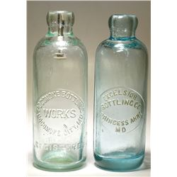 Excelsior Bottling Co / Pokomoke Bottling Works  ( Lot of 2 )