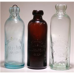 Standard Bottling Works / Berglund Bros/ Reichert Bottling ( Lot of 3 )