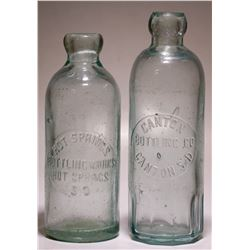 Canton Bottling Co /  Hot Springs Bottling Works ( Lot of 2).