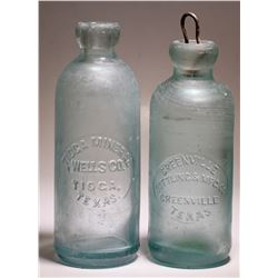 Tioga Mineral Wells Co./ Greenville Bottling & Mfg. Co. ( Lot of 2 )