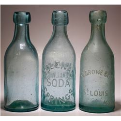 H. Grone & Co, Tolenas Soda Srrings, Unembossed Soda  ( 3 items )