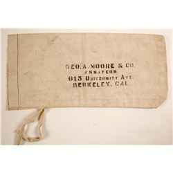 Geo. A. Moore & Co. Assayers Bank Bag