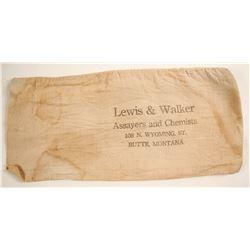 Lewis & Walker Assayers and Chemists bank bag
