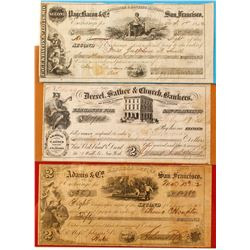Three Different Gold Rush San Francisco Exchanges