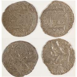 Silver Coins from El Cazador Ship Wreck 4 Reales