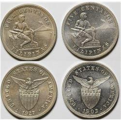 Five Centavo Pieces