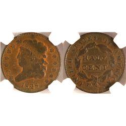 1828 Half Cent, NGC F12 BN
