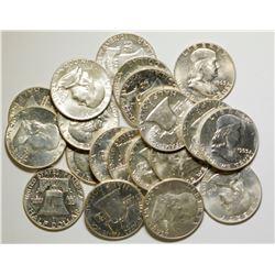 Uncirculated Roll of Franklin Half Dollars