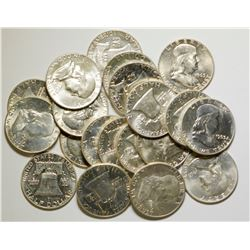 Uncirculated Roll of Franklin Half Dollars