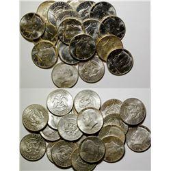BU Rolls of Kennedy Half Dollars