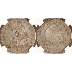 1876 S Trade Dollar, Chop Marks