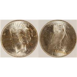 1922 Peace Dollar, MS 65