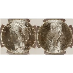 1923 Peace Dollar, MS 64