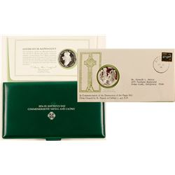 1974 St. Patrick's Day Irish Silver Coin and Cachet