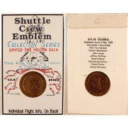STS-35 Shuttle Crew Emblem Collection Series Medal