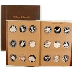 Book of 45 One-Troy-Ounce Fine Silver Rounds - Album 1