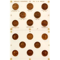 Bronze Medal Set of Eight US Mints from CoinWorld