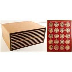 The Franklin Mint History of the United States Bronze 200-Coin Set