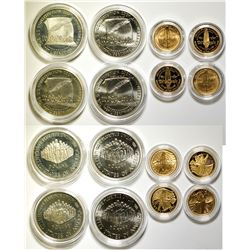 U.S. Silver Dollar and Gold Five Dollar Sets