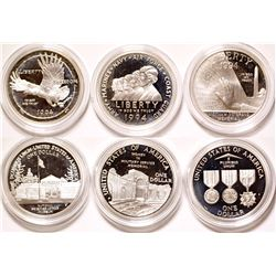 U.S. Veterans Silver Dollars Proof Set