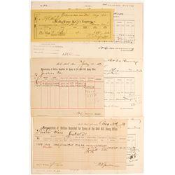 Carson City Mint Bullion receipts