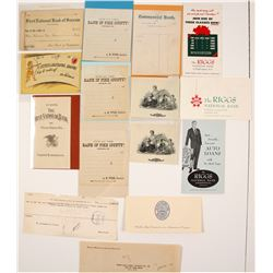 US Banking Ephemera