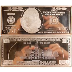 $100 Silver Proof Ingot