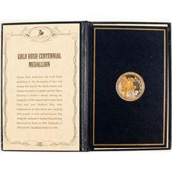 Alaska Mint Official Gold Rush Centennial Medallion