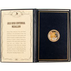 Alaska Mint Official Gold Rush Centennial Medallion