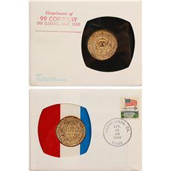 Nixon Inaugural Cover and Coin